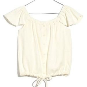 Madewell Texture  & Thread Off The Shoulder Top